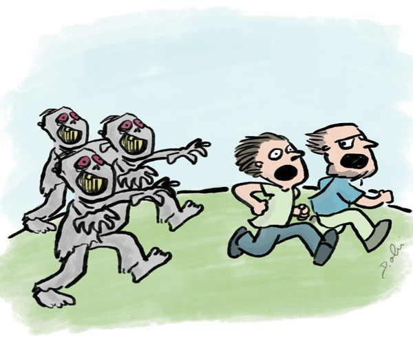 смешной комикс про зомби