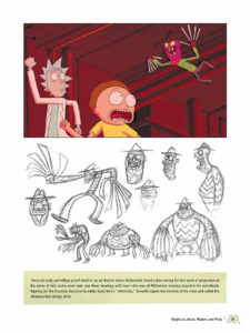 Artbook The Art of Rick and Morty