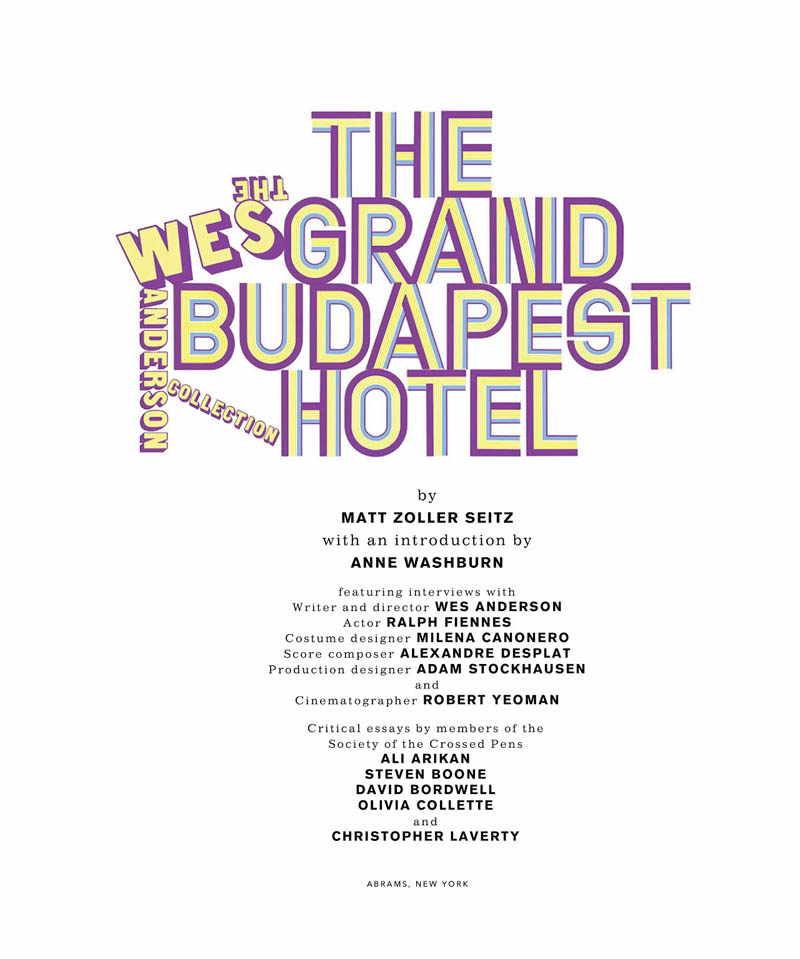 артбук по фильму Отель Гранд Будапешт
