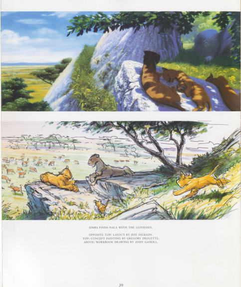артбук по фильму король лев
