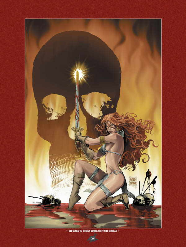 Download The Art of Red Sonja